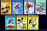 Disney Character Sport Scenes 1979 Stamps  Mint Sets Grenada 950 - 956