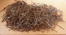 ANTIQUE PRIMITIVE BARBED WIRE -  Approx 500 PIECES BARBS CUTS CLIPS - BOX LOT