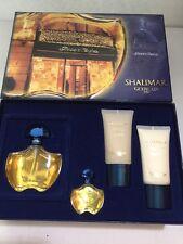 Vintage Shalimar Guerlain Paris Perfume Shower Gel Body Lotion Set w/ Box PREOWN