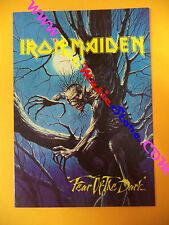 CARTOLINA PROMOZIONALE POSTCARD IRON MAIDEN Fear dark 10x15 cm no*cd dvd lp mc