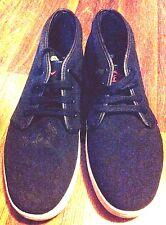 ADIO Mens COMBO HI Black Red Fashion Sneaker Shoes size 10.5