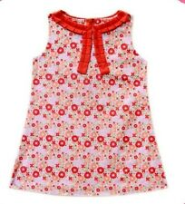Gardening Bear Printed Dress with Neck Detail #2, Size: 6m (for 3-6 mos)