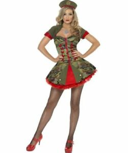 Fever Sexy Special Forces Army Camo Ladies Fancy Dress Costume UK 8-10