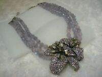 """HEIDI DAUS """"Lovely Lily"""" (Violet) Beautiful Floral Necklace (Orig.$289.95)"""