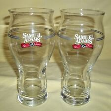 Two Sam Adams Boston Lager Cheers to 25 Years Silver Anniversary Pint Glasses