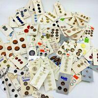 Sewing Buttons Lot 87+ Carded 1 Glass Casa de Leon Vintage La Mode Lansing AR