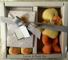 First Impressions (Macy's) Baby Gift Set Plush Yellow Duck & Sleeper 0-6 Month