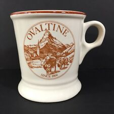 Vintage Ovaltine Promo Shaving Mug Brown Cows Cattle Mountains Buntingware