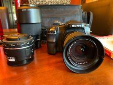 Sony Alpha a100 10.2Mp Digital Slr Camera, Sony Dt 18-70mm, 75-300, & 30 Macro