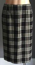 Retro TRENT RESORT Black, Red & White Check Print Straight Skirt Size 14