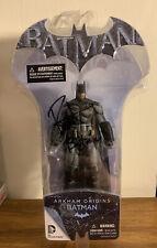 BATMAN ARKHAM ORIGINS BATMAN ACTION FIGURE DC DIRECT Signed Roger Craig Smith