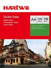 Hartwii 120 Sheets A4 140Gsm Matt Matte Double Side Photo Paper For Inkjet Laser