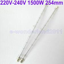 2× HALOGEN LIGHT BULB 220V 1500W 1500 WATT J TYPE T3 254mm (R7s) Halogen Bulbs