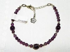 "AMETHYST GEMSTONE ADJUSTABLE BRACELET ""new"" AUZ MADE BL03"