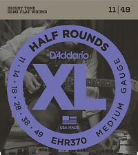 D'Addario EHR370 Half Rounds Stainless Steel Electric Guitar Strings 11-49
