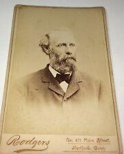 Rare Antique Victorian American ID'd Mr Morse Railroad Engineer CT Cabinet Photo
