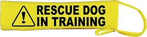 Warning Rescue Dog In Training Dog Lead Slip Cover 087