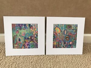 Diptych Landscaoe Abstract Paintings Original