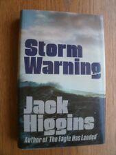 Jack Higgins Storm Warning 1st HC UK SIGNED Near Fine