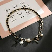Luxury Chain Pendant Necklace Women Jewelry Gift Pearl Bow Chic Accessories New