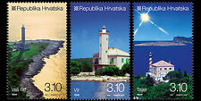 Lighthouses Lot de 3 MNH timbres 2010 Croatie #781-3