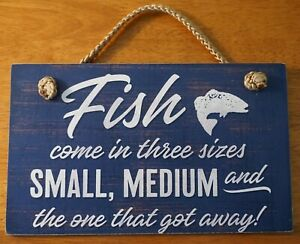 FUNNY FISHING SIGN Rustic Fisherman Wood Plank Log Cabin Lodge Home Decor NEW