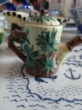 Khien Ceramics Green & Brown Mini Teapot