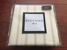 Beekman 1802 Sangerfield King Pillow Sham Ivory Stripe Cotton Steampunk Nwt