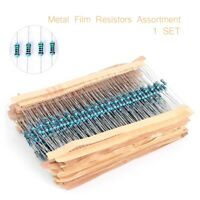 600pcs 30 Value 1/4w Resistance 1% Metal Film Resistors Assorted kit 10-1M Ohm