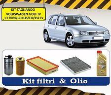 KIT TAGLIANDO OLIO CASTROL + 4 FILTRI VW GOLF IV 1.9 TDI 90 101 110 115 150 CV