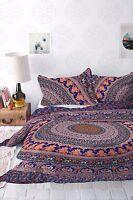 Indian Mandala Hippie Duvet Cover Blanket Ethnic Comforter Quilt Doona Cover Set