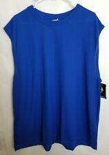 Cheetah Mens Blue 2Xl Shirt Sleeveless Workout Basketball Top Bm