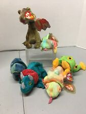 TY Beanie Baby - SCORCH the Dragon Stuffed Animal Toy Plus Other Listed.  Set !!