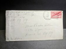 APO 214 CHITTAGONG, INDIA 1945 Censored WWII Army Cover 2nd CC Sq, 1st CC Group