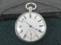 Englische TU mit kleiner Sekunde aus 925er Silber mit J. Noukes Caliber von 1866