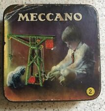 Meccano small parts tin Empty Toys Advertising Bi Vintage Retro Display