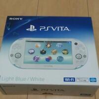 Sony Play station vita Wi-Fi model Light Blue and White PCH-2000 ZA14 USED FedEx