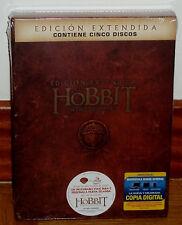 EL HOBBIT UN VIAJE INESPERADO EDICION EXTENDIDA 5 DVD NUEVO PRECINTADO ACCION R2