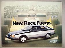Renault Fuego Car PRINT AD - 1982 ~ American Motors