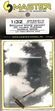 Master Model 1:32 Browning An M2 Aircraft .30 Cal 7.62mm Metal Barrels #Am32010