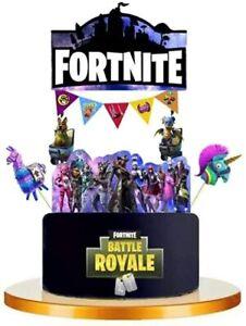 Fortnite Gaming Cupcake Picks Birthday Cake Topper Party Supplies Decoration UK