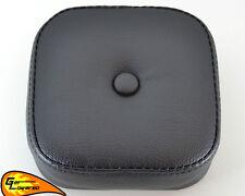 Black Mini Muffin Backrest Pad for Harley Sissy Bars Softail Sportster