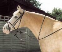 Windsor Leather Running Martingale Pony Cob Full Black & Havana