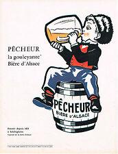 PUBLICITE ADVERTISING   1962   PECHEUR   bière la GOULEYANTE  d'ALSACE