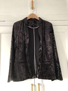 M&Co Crushed Velvet Blazer Nwot Size 14