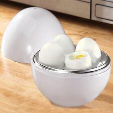 LC_ bianco forma a sfera MICROONDE 4-6 uova fornello SODO BOILER CASA ATTREZZO
