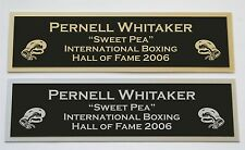Pernell Whitaker nameplate for signed boxing gloves trunks photo