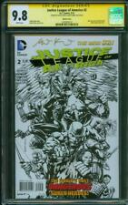 Justice League of America 2 CGC 2XSS 9.8 David Finch Sketch Variant 2019 Movie
