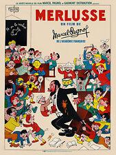 MERLUSSE Marcel Pagnol affiche cinema française repro 60x80 cm