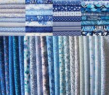 22 Fat Quarters Bundle Blue Shades - 100% Cotton